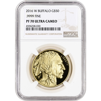 2016-W American Gold Buffalo Proof (1 oz) $50 - NGC PF70 UCAM