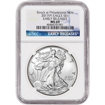 2017-(P) American Silver Eagle - NGC MS69 - Early Releases