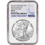 2017-(P) American Silver Eagle - NGC MS70 - Early Releases