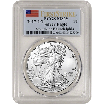 2017-(P) American Silver Eagle - PCGS MS69 - First Strike