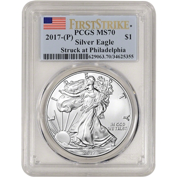 2017-(P) American Silver Eagle - PCGS MS70 - First Strike