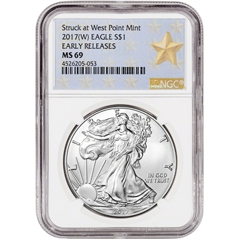 2017-(W) American Silver Eagle - NGC MS69 - Early Releases - Star Label