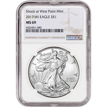 2017-(W) American Silver Eagle - NGC MS69