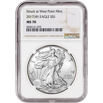 2017-(W) American Silver Eagle - NGC MS70