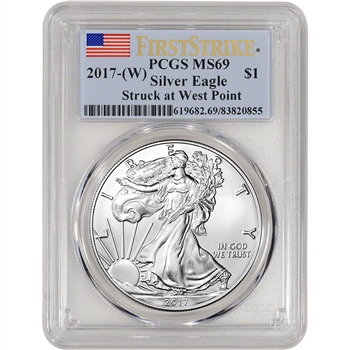 2017-(W) American Silver Eagle - PCGS MS69 - First Strike