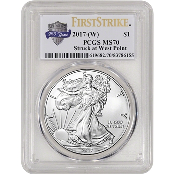 2017-(W) American Silver Eagle - PCGS MS70 - First Strike - 225th Anniversary