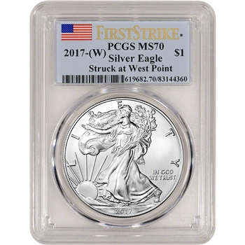 2017-(W) American Silver Eagle - PCGS MS70 - First Strike