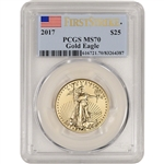 2017 American Gold Eagle (1/2 oz) $25 - PCGS MS70 - First Strike