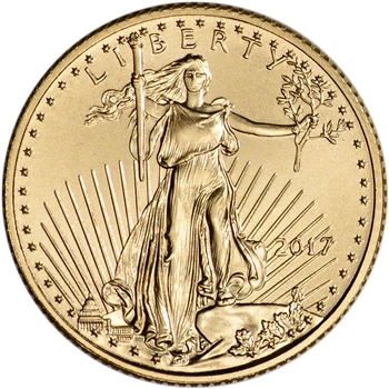 2017 American Gold Eagle (1/10 oz) $5 - BU