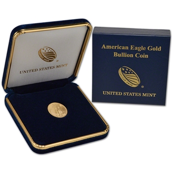 2017 American Gold Eagle (1/10 oz) $5 - BU coin in U.S. Mint Gift Box