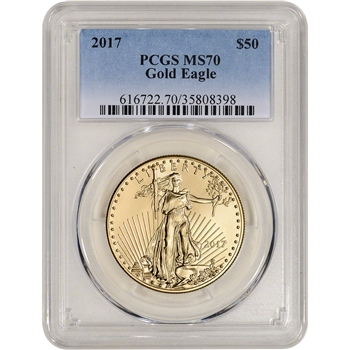 2017 American Gold Eagle 1 oz $50 - PCGS MS70
