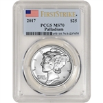 2017 American Palladium Eagle (1 oz) $25 - PCGS MS70 - First Strike