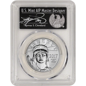 2017 American Platinum Eagle (1 oz) $100 - PCGS MS70 - First Day Issue Cleveland