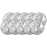 2017 American Silver Eagle (1 oz) $1 - BU - Ten 10 Coins