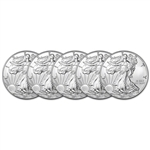 2017 American Silver Eagle (1 oz) $1 - BU - Five 5 Coins
