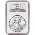 2017 American Silver Eagle - NGC MS70