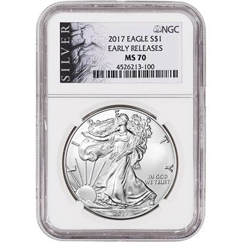2017 American Silver Eagle - NGC MS70 - Early Releases - ALS Label