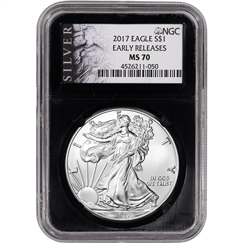 2017 American Silver Eagle - NGC MS70 - Early Releases - ALS Label Black