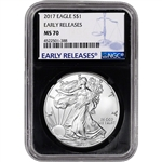 2017 American Silver Eagle - NGC MS70 Early Releases Black Core