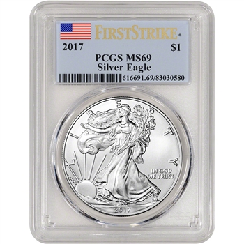 2017 American Silver Eagle - PCGS MS69 - First Strike