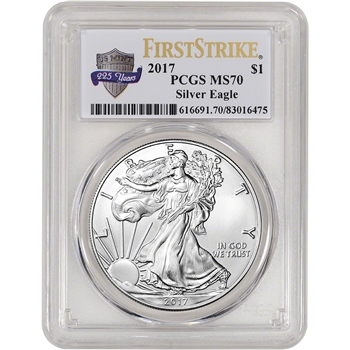 2017 American Silver Eagle - PCGS MS70 - First Strike - 225th Anniversary