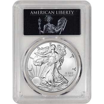 2017 American Silver Eagle - PCGS MS70 - First Strike - American Liberty Label