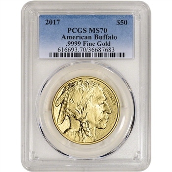 2017 American Gold Buffalo 1 oz $50 - PCGS MS70