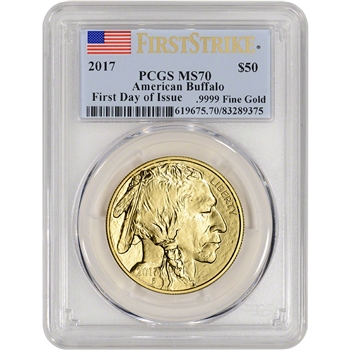 2017 American Gold Buffalo (1 oz) $50 - PCGS MS70 - First Strike First Day Issue