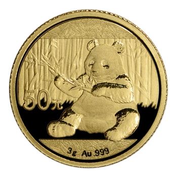 2017 China Gold Panda (3 g) 50 Yuan - BU - Mint Sealed