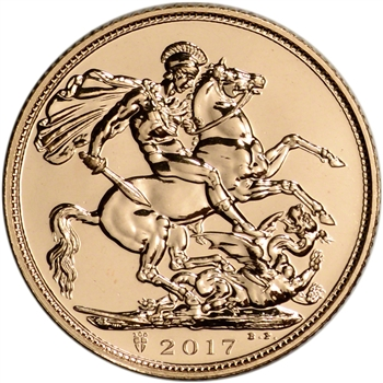 2017 Great Britain Gold Sovereign (.2354 oz) - Elizabeth II - BU
