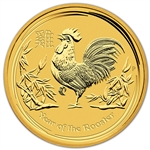 2017-P Australia Gold Lunar Year of the Rooster (1 oz) $100 BU