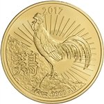 2017 Australia Gold Lunar Year of the Rooster (1/2 oz) $50 - BU