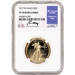 2017 W American Gold Eagle Proof 1/2 oz $25 - NGC PF70 UCAM Moy Signed