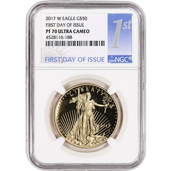 2017-W American Gold Eagle Proof (1 oz) $50 - NGC PF70 First Day Issue 1st Label