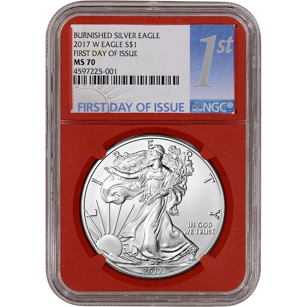 2017-W Burnished $1 American Silver Eagle NGC MS70 FDI West Point Core