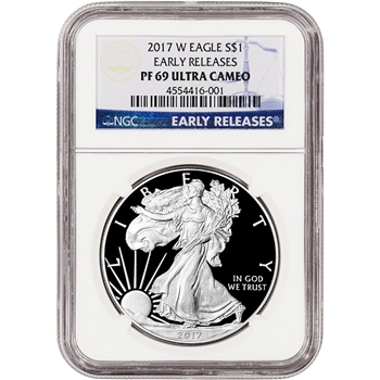 2017-W American Silver Eagle Proof - NGC PF69 UCAM - Early Releases