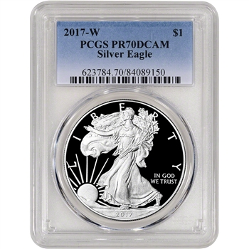 2017-W American Silver Eagle Proof - PCGS PR70 DCAM
