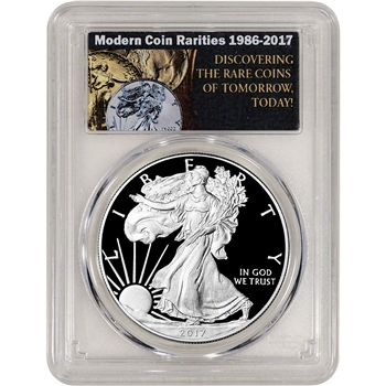 2017-W American Silver Eagle Proof - PCGS PR70 DCAM First Day Issue MCR Label