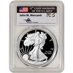 2017 W American Silver Eagle Proof - PCGS PR70 DCAM First Day Issue Mercanti
