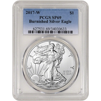 2017-W American Silver Eagle Burnished - PCGS SP69
