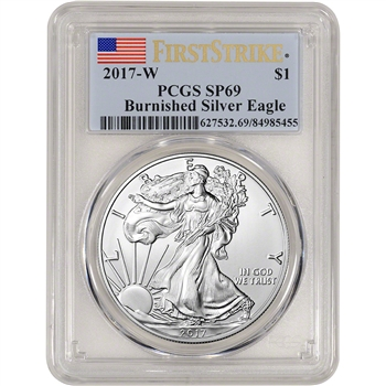 2017-W American Silver Eagle Burnished - PCGS SP69 - First Strike