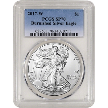 2017-W American Silver Eagle Burnished - PCGS SP70