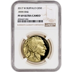 2017-W American Gold Buffalo Proof (1 oz) $50 - NGC PF69 UCAM