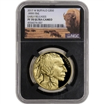 2017-W American Gold Buffalo Proof 1 oz $50 NGC PF70 Early Releases Bison Black