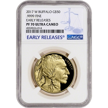 2017-W American Gold Buffalo Proof (1 oz) $50 - NGC PF70 UCAM Early Releases