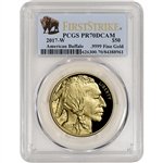 2017-W American Gold Buffalo Proof (1 oz) $50 - PCGS PR70 First Strike Buffalo