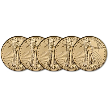 2018 American Gold Eagle (1/4 oz) $10 - BU - Five 5 Coins