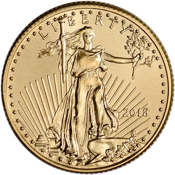 2018 American Gold Eagle (1/4 oz) $10 - BU