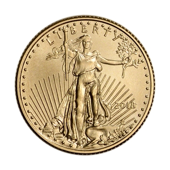 2018 American Gold Eagle (1/10 oz) $5 - BU