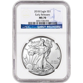 2018 American Silver Eagle - NGC MS70 - Early Releases